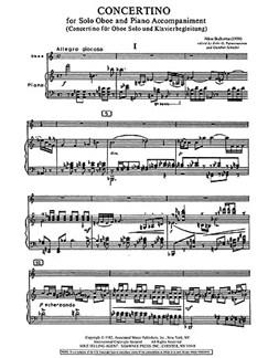 Nikos Skalkottas: Concertino For Oboe And Piano Books | Piano