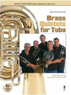 Pacific Coast Horns: Brass Quintets For Tuba - Volume 3 Books and CDs | Tuba
