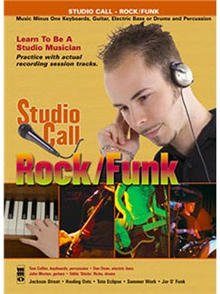 Music Minus One - 'Studio Call' Rock/Funk (Minus Guitar) Books and CDs | Guitar