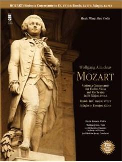 Music Minus One: W.A. Mozart - Sinfonia Concertante For Violin, Viola & Orchestra in E Flat KV 364; Adagio In E; Rondo In C (Violin Version) Books and CDs | Violin