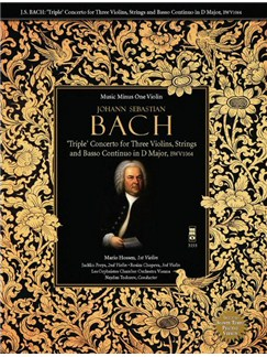 J.S. BACH: 'Triple' Concerto For Three Violins In D BWV1064 Books and CDs | Violin
