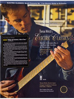 Theron Welch's Electric Classics: Bruch - Concerto No. 1 For Electric Guitar And Orchestra (Book/CD) Books and CDs | Electric Guitar
