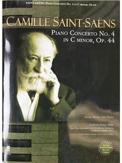 Camille Saint-Saens: Piano Concerto No. 4 In C Minor, Op.44 (Book/CD) Books and CDs | Piano