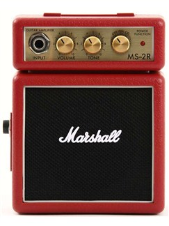 Marshall: MS2R Micro Portable Guitar Amplifier (Red)  |