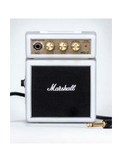 Marshall: MS2W Micro Portable Guitar Amplifier - White  |