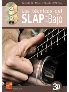 Las Técnicas Del Slap En El Bajo En 3D (Libro/CD/DVD) Books, CDs and DVDs / Videos | Bass Guitar