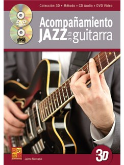 Acompañamiento Jazz A La Guitarra En 3D (Libro/CD/DVD) CD, DVDs / Videos et Livre | Guitare
