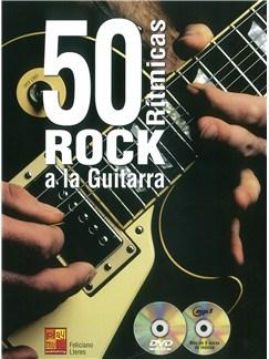 50 Rítmicas Rock A La Guitarra (Book/CD/DVD) Books | Guitar