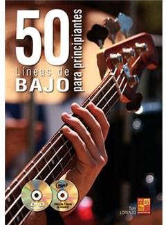 Toni Lorenzo: 50 Líneas De Bajo Para Principiantes (Book/CD/DVD) Books, CDs and DVDs / Videos | Bass Guitar