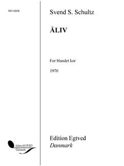 Svend S. Schultz: Åliv (SATB) Books   SATB