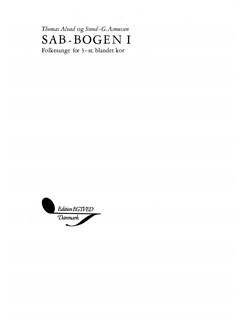 Thomas Alvad & Sven-G Asmussen: SAB-Bogen 1 (Choral SAB) Books | SAB