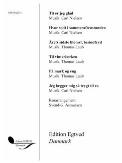 Carl Nielsen / Thomas Laub: Tit Er Jeg Glad (Vocal Score) Books | SA