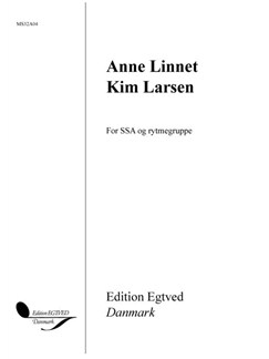 Anne Linnet/Kim Larsen - Five Songs For SSA And Rythm Section Bog | SSA - Lige stemmer, Slagtøj