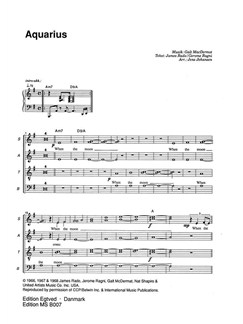 Jens Johansen: Hair (SATB/Piano) Books | SATB, Piano Accompaniment