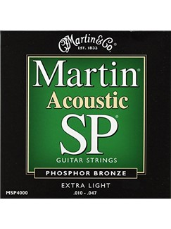 Martin: SP Phosphor Bronze Extra Light Acoustic Guitar Strings - 10-47  | Acoustic Guitar
