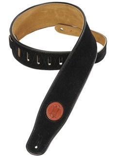 Levy's: MSS3 Suede Leather Guitar Strap - Black  | Guitar