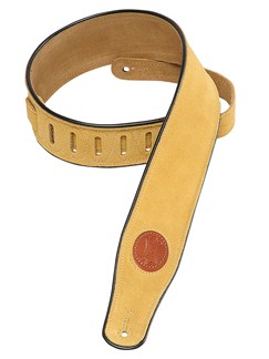 Levy's: MSS3 Suede Leather Guitar Strap - Tan  | Guitar