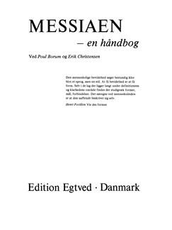 Poul Borum & Erik Christensen: Messiaen - En Håndbog Books |