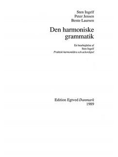 Peter Jensen & Bente Laursen: Den Harmoniske Gramatik Bog |