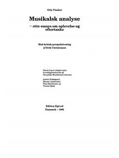 Orla Vinther: Musikalsk Analyse Bog |