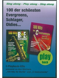 100 Hits Für Bb- & Eb-Instrumente Band 1 (5 Playback-CDs) CDs | B Flat Instruments, E Flat Instruments