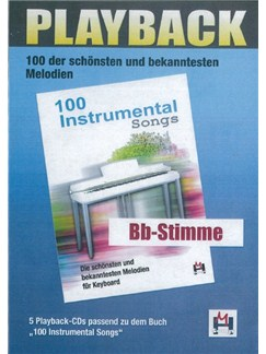 100 Instrumental Songs (5 Playback-CDs Bb-Stimme) CDs | Voice, B Flat Instruments