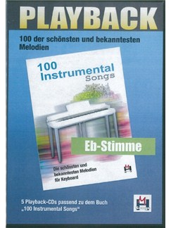 100 Instrumental Songs (5 Playback-CDs Eb-Stimme) CDs | Voice, E Flat Instruments