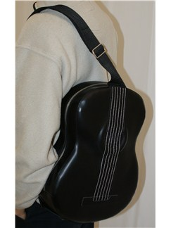 Musicwear: Acoustic-Style Shoulder Bag With Built In Rechargable Speaker (Black)  |