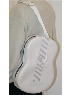 Musicwear: Acoustic-Style Shoulder Bag With Built In Rechargable Speaker (White)  |