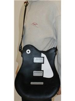Musicwear: Electric Guitar Style Shoulder Bag (Black)  |