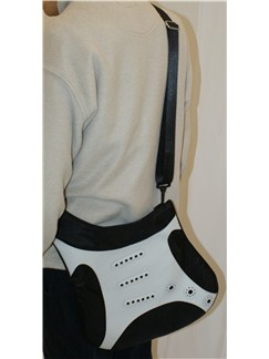 Musicwear: Str*t-Style Electric Guitar Shoulder Bag (Silver)  |