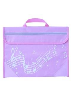 Musicwear: Wavy Stave Music Bag (Pink)  |