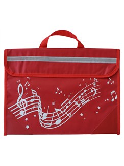 Musicwear: Wavy Stave Music Bag (Red)  |