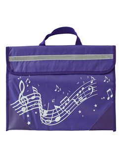 Musicwear: Wavy Stave Music Bag (Purple)  |