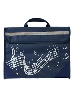 Musicwear: Wavy Stave Music Bag (Navy Blue)  |
