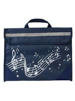 Musicwear: Sacoche De Musique Portée Onduleuse (Bleu Marine)  |