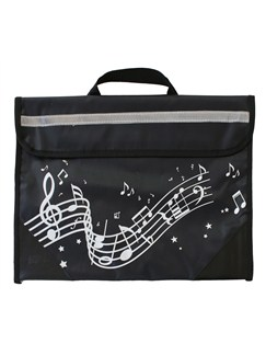 Musicwear: Wavy Stave Music Bag (Black)  |