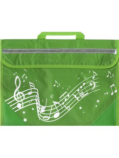 Musicwear: Wavy Stave Music Bag (Green)  |