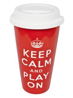 Keep Calm And Play On - Travel Mug  |