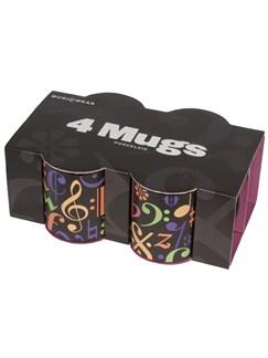 Fine China Mug 4 Pack - Music Symbols  |