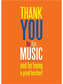 Musical Thank You Card