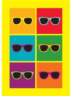 Pop Art: Sunglasses - Greeting Card  |