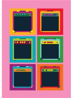 Pop Art: Amps - Greeting Card  |