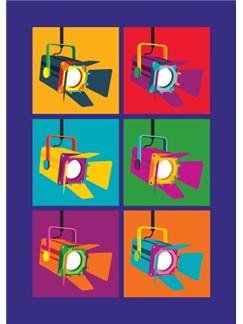 Pop Art: Stage Light - Greeting Card  |