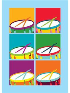 Pop Art: Drums - Greeting Card  |