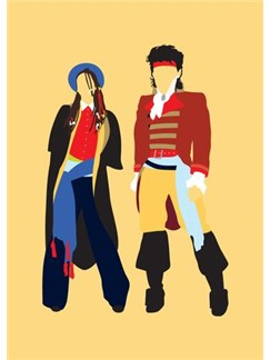 Fashion Vs Music: New Romantic - Greeting Card  |