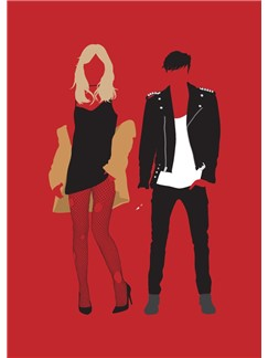 Fashion Vs Music: Rock N Roll - Greeting Card  |