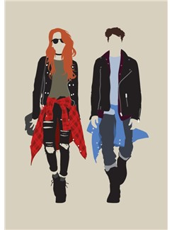 Fashion Vs Music: Grunge - Greeting Card  |