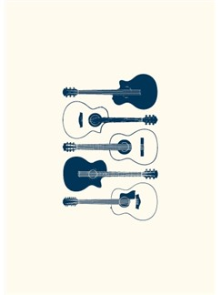 Vintage: Acoustic Guitar - Greeting Card  |