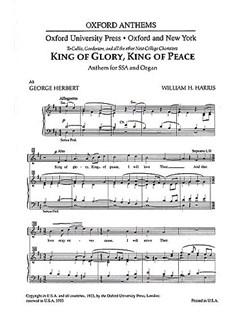 William H. Harris: King Of Glory, King Of Peace (SSA) Books | SSA, Organ Accompaniment